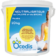 Neutralisateur de Chlore/Brome 10kg - Desinfection - Ocedis