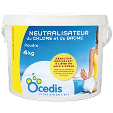 Neutralisateur de Chlore/Brome 4kg - Desinfection - Ocedis